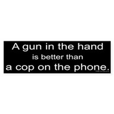 Gun in Hand Bumper Car Sticker
