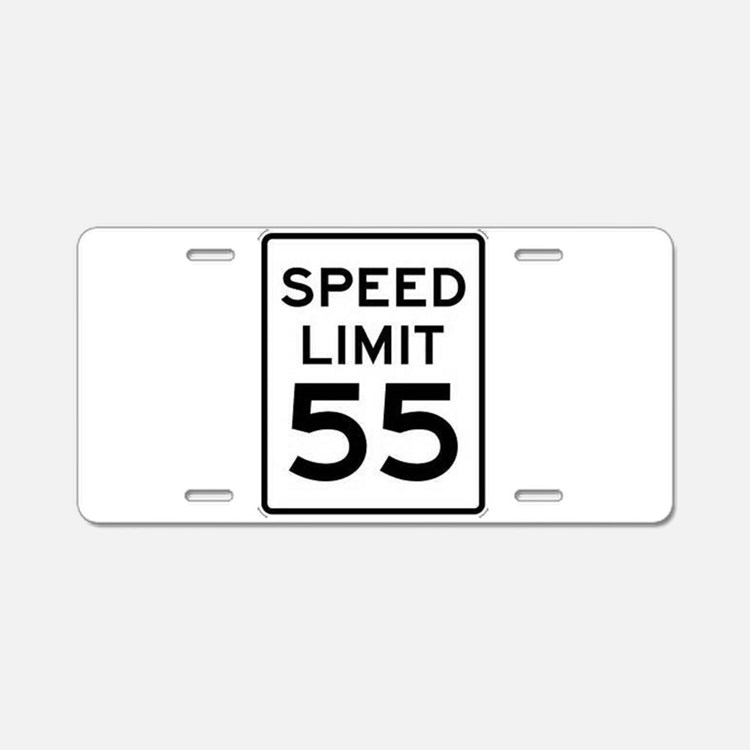55-MPH Speed Limit Day Aluminum License Plate