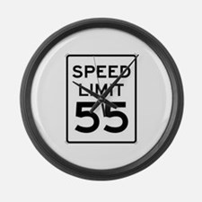 55-MPH Speed Limit Day Large Wall Clock