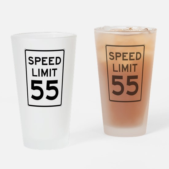 55-MPH Speed Limit Day Drinking Glass