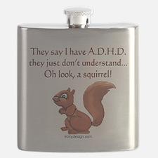 ADHD Squirrel Flask