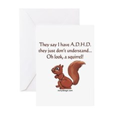 ADHD Squirrel Greeting Cards