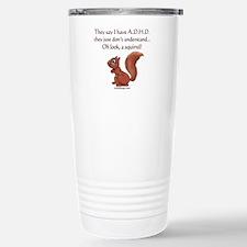ADHD Squirrel Stainless Steel Travel Mug