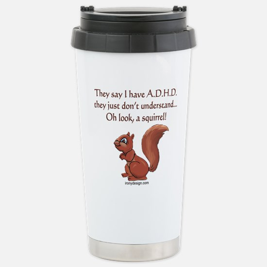 ADHD Squirrel Stainless Steel Travel Mug