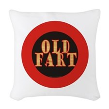 Old Fart Woven Throw Pillow