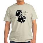 Lucky Dice Light T-Shirt - black dice