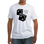 Lucky Dice Fitted T-Shirt - black dice