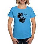 Lucky Dice Women's Dark T-Shirt - black dice