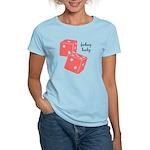 Lucky Dice Women's Light T-Shirt - pink dice