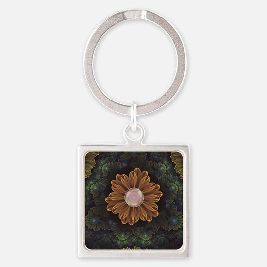 Abloom in Autumn Leaves with Faded Fract Keychains