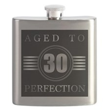 30th Birthday Aged To Perfection Flask