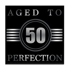 50th Birthday Aged To Perfection Tile Coaster
