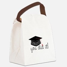 You Did It! Canvas Lunch Bag