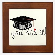 You Did It! Framed Tile