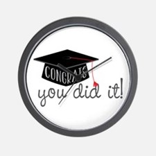 You Did It! Wall Clock