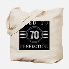 70th Birthday Aged To Perfection Tote Bag