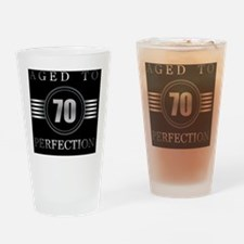 70th Birthday Aged To Perfection Drinking Glass