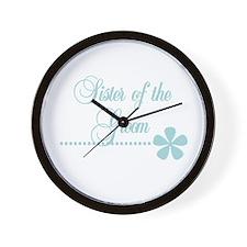 Sister of Groom Wall Clock