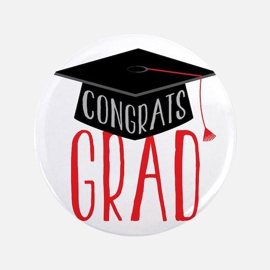 "Congrats Graduate 3.5"" Button"