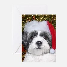 Christmas Shih Greeting Cards