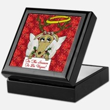 Vegan Reindeer Angel Keepsake Box