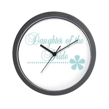 Daughter of the Bride Wall Clock