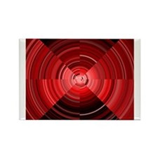 Red Migraine Optical Illusion Magnets