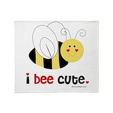 I Bee Cute Throw Blanket