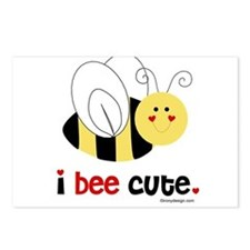 I Bee Cute Postcards (Package of 8)