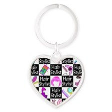 FOXY HAIR STYLIST Heart Keychain