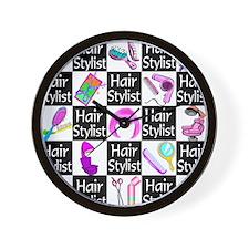 FOXY HAIR STYLIST Wall Clock