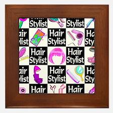 FOXY HAIR STYLIST Framed Tile