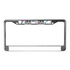 FOXY HAIR STYLIST License Plate Frame