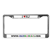 """I LOVE NJ"" License Plate Frame"