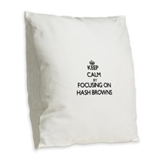 Keep Calm by focusing on Hash Burlap Throw Pillow