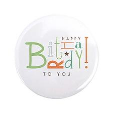"Wishing Happy Birthday! 3.5"" Button (100 pack)"