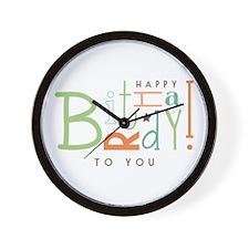 Wishing Happy Birthday! Wall Clock