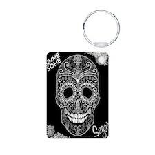 Lace Sugar Skull Keychains Keychains