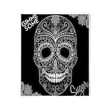 Lace Sugar Skull Throw Blanket