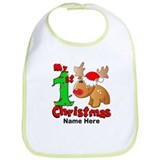 1st christmas Cotton Bibs