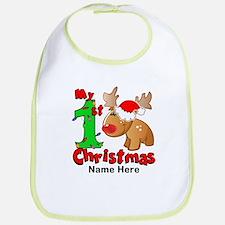 My 1st Christmas Reindeer Bib