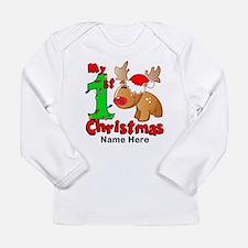 My 1st Christmas Reinde Long Sleeve Infant T-Shirt