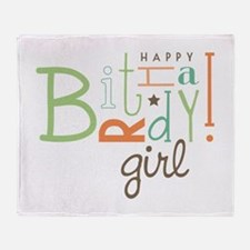 Birthday Girl! Throw Blanket
