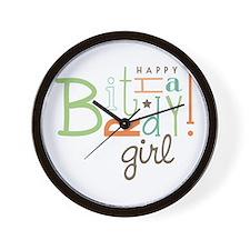 Birthday Girl! Wall Clock
