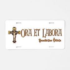 Benedictine Oblate Aluminum License Plate