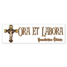 Benedictine Oblate Bumper Bumper Sticker
