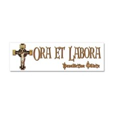 Benedictine Oblate Car Magnet 10 x 3