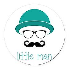 Little Man Round Car Magnet