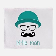 Little Man Throw Blanket