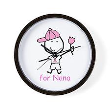 Pink Ribbon - Nana2 Wall Clock